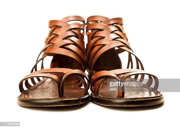 leather sandals - sandal stock pictures, royalty-free photos & images