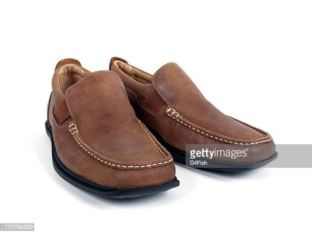 leather shoes - loafer stock pictures, royalty-free photos & images