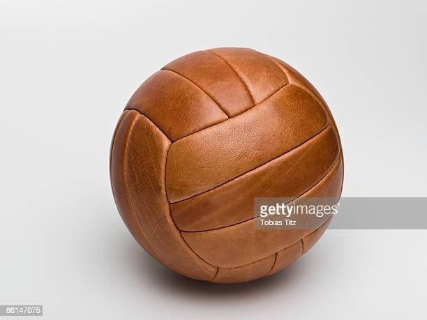 A leather sports ball