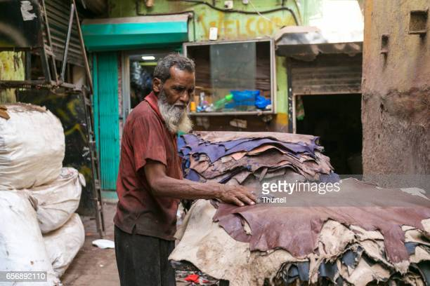 Leather Worker, Dharavi Slum, Mumbai, India