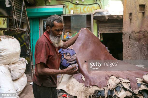 Leather Worker, Dharavi Slum, Mumbai, India