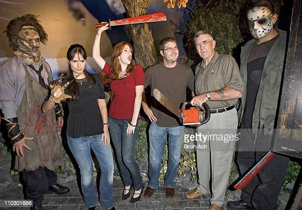 Leatherface Jordana Brewster Diora Baird Director Jonathan Liebesman R Lee Ermey and Jason