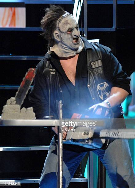 Leatherface presenter during Fuse Fangoria Chainsaw Awards Show at Orpheum Theatre in Los Angeles California United States