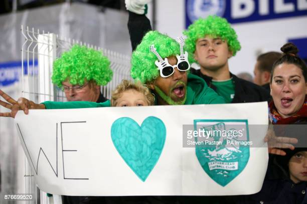 Leatherhead fans in the stands ahead of the match