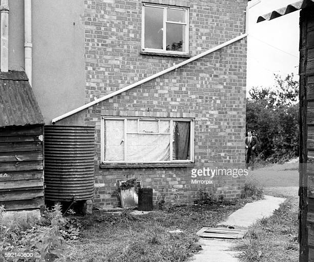 Leatherslade Farm at Oakley Buckinghamshire where the Great Train Robbers hid 26th August 1963 OPS Extension building where the landrover used in the...