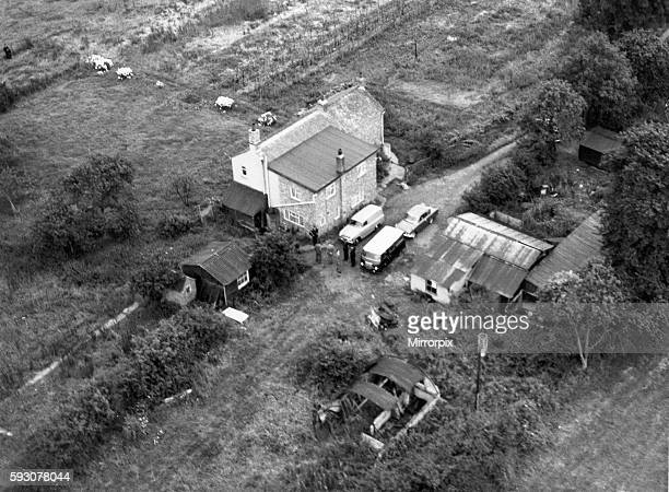 Leatherslade Farm at Oakley Buckinghamshire where the Great Train Robbers hid 13th August 1963 OPS Aerial view of the farmhouse