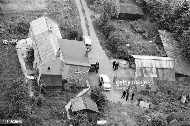 Leatherslade Farm between Oakley and Brill in Buckinghamshire hideout used by gang 27 miles from the crime scene Tuesday 13th August 1963 pictured...