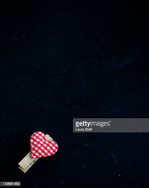 Leave message of love (heart shaped peg)