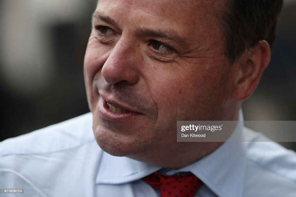 Leave.EU Backer Arron Banks Gives Evidence To The Fake News Select Committee : News Photo