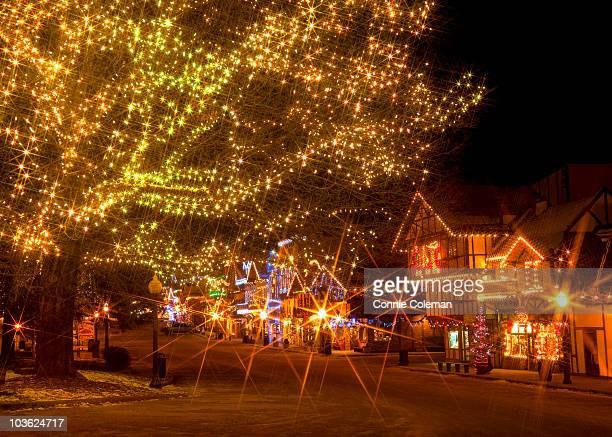 Leavenworth, Washington With Holiday Lights