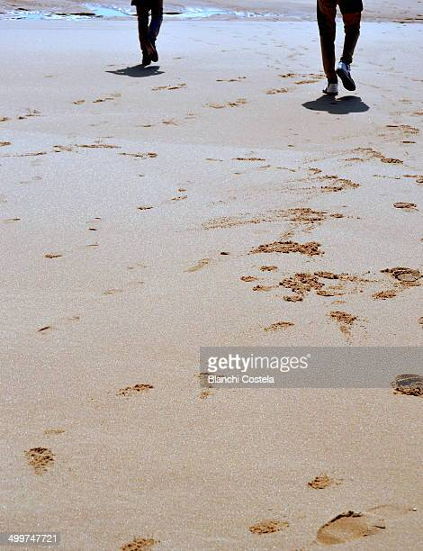 Leaving footprint in the sand