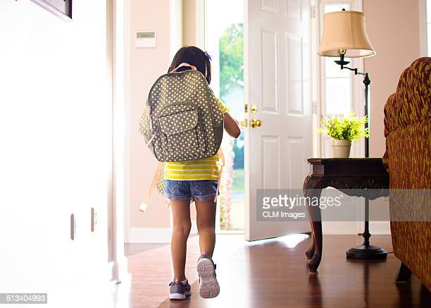 leaving for first day of school - first day of school stock pictures, royalty-free photos & images