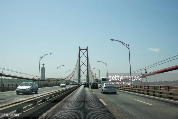 Leaving Lisbon on the 25th of April Bridge Portugal