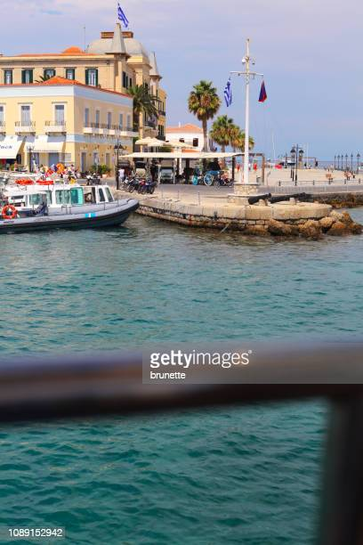 leaving spetses - spetses stock pictures, royalty-free photos & images