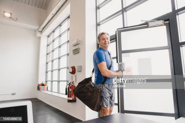 leaving the gym - sports training clinic stock pictures, royalty-free photos & images