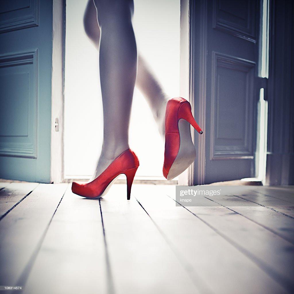 Leaving through the door : Stock Photo