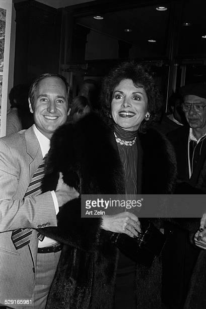 Leba and Neil Sedaka She is wearing a fur circa 1970 New York