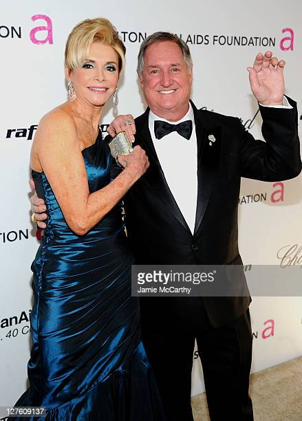 Leba Strassberg and recording artist Neil Sedaka attend the 19th Annual Elton John AIDS Foundation Academy Awards Viewing Party at the Pacific Design...