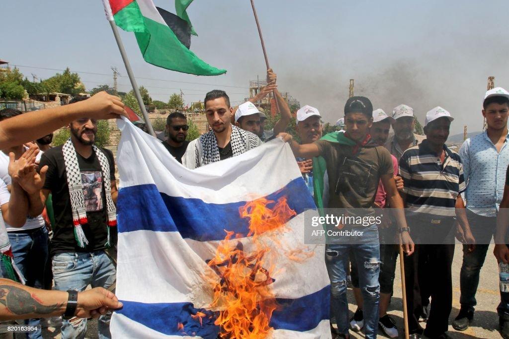 LEBANON-PALESTINIAN-ISRAEL-CONFLICT-JERUSALEM : News Photo