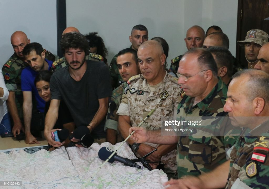 Lebanese army's press briefing : News Photo