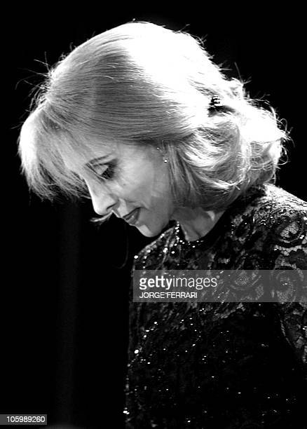 Lebanese diva Fairuz performs at the American University auditorium in Dubai 29 March 2001 Fairuz is accompanied by a 40member orchestra and chorus...