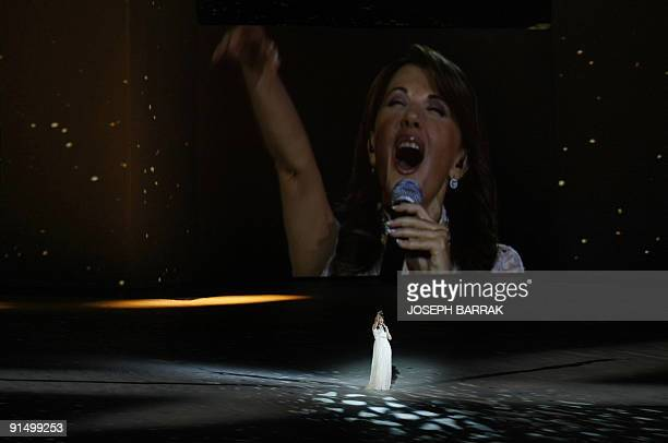 Lebanese diva Magida alRoumi performs during the opening ceremony in Beirut on September 27 2009 of the Francophone Games a fouryearly event that...