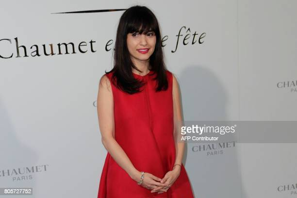 Lebanese fashion writer Samar Seraqui aka Ulap poses during a photocall as part of an event organised by French jeweller Chaumet on July 2 2017 in...