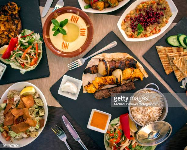 lebanese food - greek food stock pictures, royalty-free photos & images