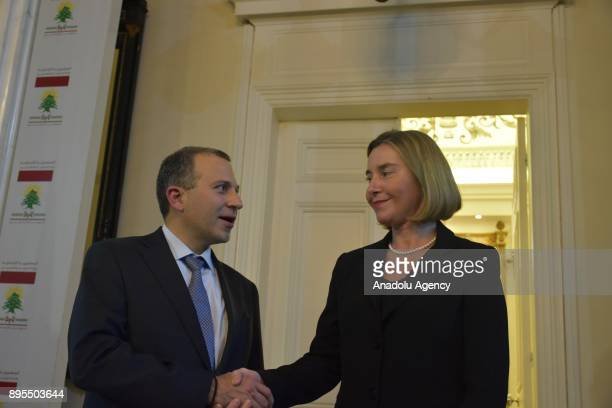 Lebanese Foreign Minister Gebran Bassil meets High Representative of the European Union for Foreign Affairs and Security Policy Federica Mogherini at...