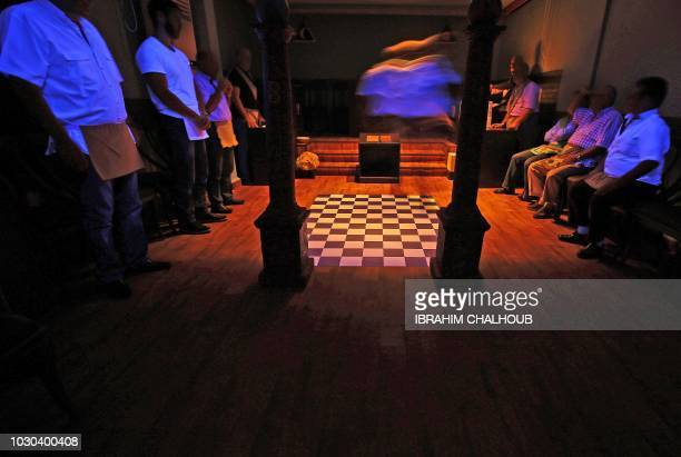Lebanese Freemasons take part in a ceremony at the Grand Orient of Lebanon in the northern city of Tripoli on June 26 2018