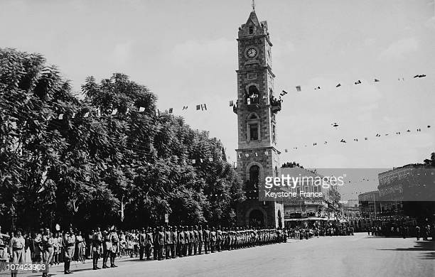 Lebanese Guard Of Honour Standing In Front Of The Clock Square At Tripoli In Lebanon
