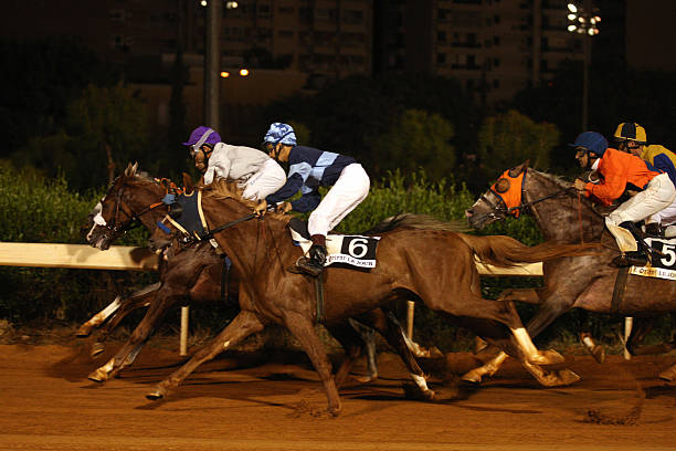 Lebanese Jockeys Ride Their Horses