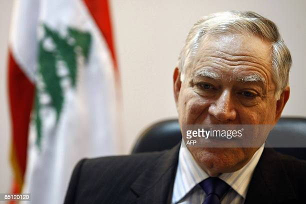 Lebanese Justice Minister Ibrahim Najjar talks gives talks about the UN tribunal into the February 2005 assassination of former Lebanese premier...