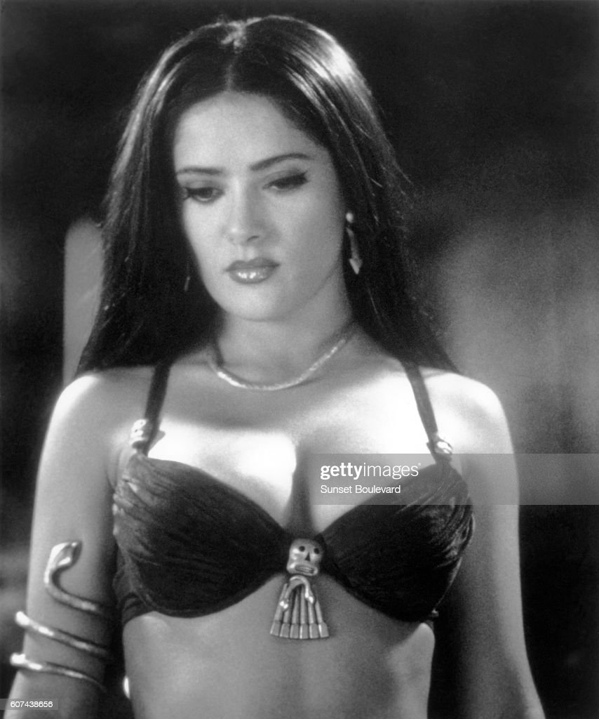 Lebanese Mexican Actress Salma Hayek On The Set Of From Dusk Till