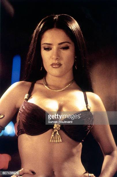 Lebanese Mexican actress Salma Hayek on the set of From Dusk Till Dawn directed and produced by Robert Rodriguez