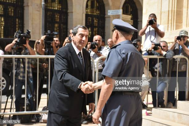 Lebanese MP Al Farzali participates in an extraordinary session at Parliament building for the Parliament speaker election in Beirut Lebanon on May...