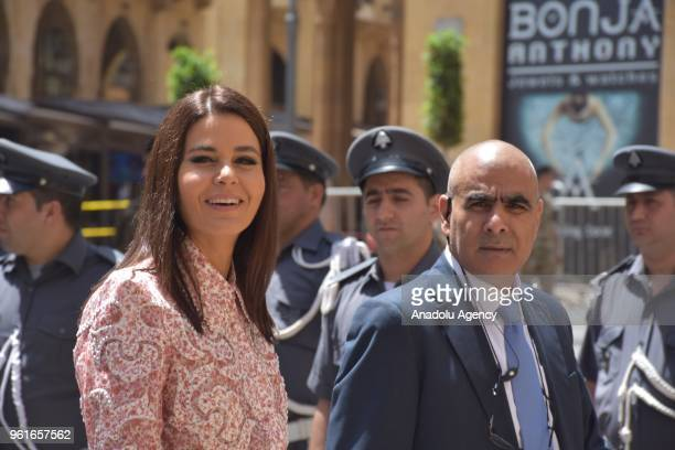 Lebanese MP Sethrida Geagea participates in an extraordinary session at Parliament building for the Parliament speaker election in Beirut Lebanon on...