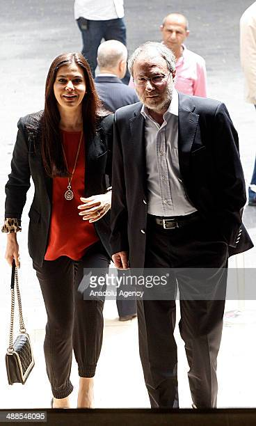Lebanese MPs Strida Geagea and Edy Abi Lamaa arrive at the Parliament of Lebanon for the third round of presidential election on May 7 2014 in Beirut...