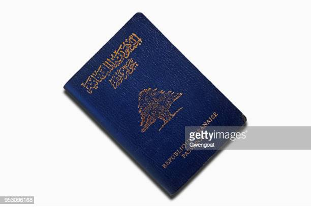 lebanese passport isolated on a white background - gwengoat stock pictures, royalty-free photos & images