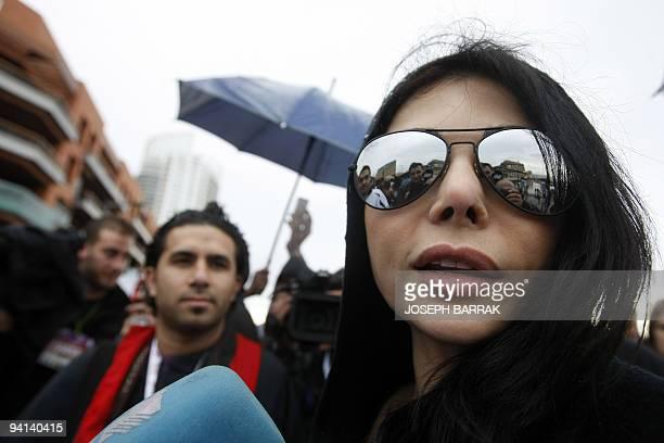 Lebanese pop star Haifa Wehbe takes part in the annual Beirut Marathon on December 6 2009 AFP PHOTO/JOSEPH BARRAK