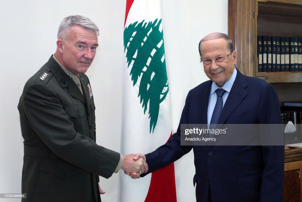 Michel Aoun - Kenneth F. McKenzie meeting in Lebanon : Photo d'actualité