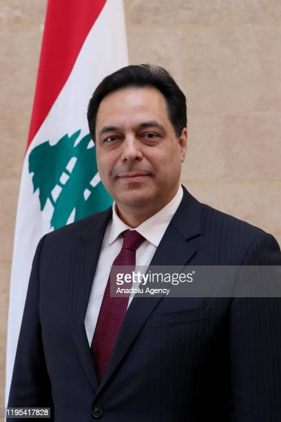 Lebanese Prime Minister Hassan Diab poses for a photo in Beirut, Lebanon on January 23, 2020. Hassan Diab yesterday announced his cabinet for the new...