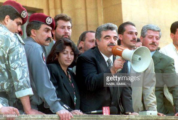 Lebanese Prime Minister Rafic Hariri C Pictures Getty