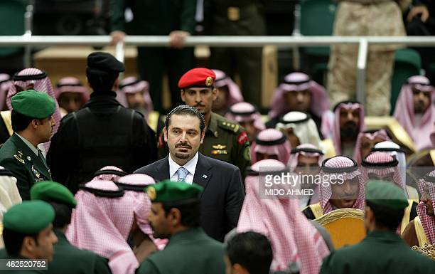 Lebanese Prime Minister Saad Hariri attends a ceremony in Riyadh on December 13 2009 to celebrate Saudi Crown Prince Sultan bin Abdul Aziz alSaud's...