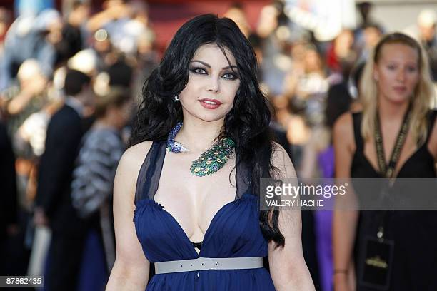 Lebanese singer Aifa Wahbi arrives for the screening of the movie Los Abrazos Rotos directed by Pedro Almodovar of Spain in competition at the 62nd...