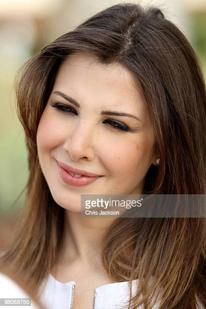 Lebanese Singer and Unicef ambassadeur Nancy Ajram attends the Cartier International Dubai Polo Challenge at the Palm Desert Resort and Spa on March...