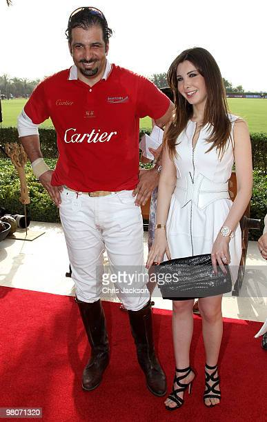 Lebanese Singer and Unicef Regional Goodwill Ambassador Nancy Ajram and Zedan Amr attends the Cartier International Dubai Polo Challenge at the Palm...