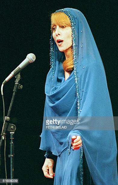 Lebanese singer Fairouz performs during a concert held to collect money for welfare organisations in Tunis late 14 November
