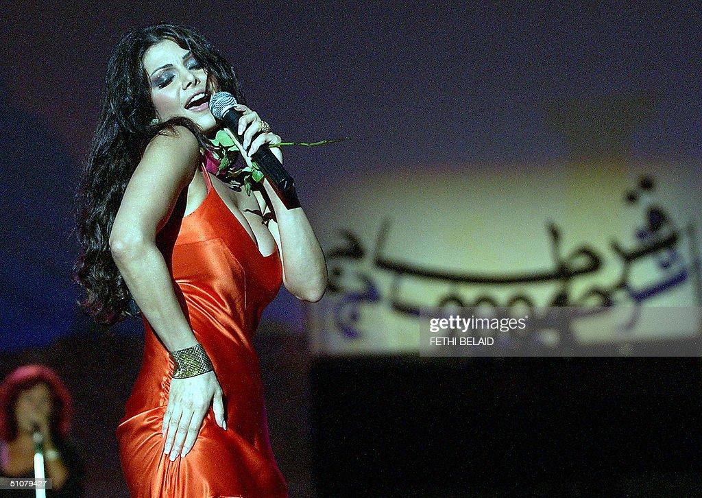 Lebanese singer Haifa Wahbi performs at : News Photo