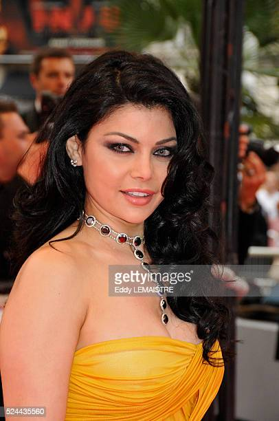 Lebanese singer Haifa Wehbe at the premiere of 'Le Silence de Lorna' during the 61st Cannes Film Festival